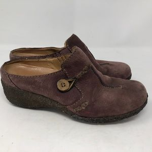 Timberland leather clogs suede leather sz 8W
